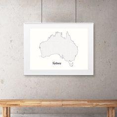 """All roads lead to Sydney"" classic white edition. #mickallan #mazeart #australia #sydney #mazeart #maze #map http://ift.tt/1QE4gkt"