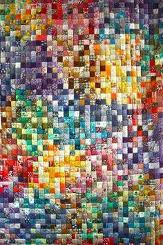 scrappy block quilt - gorgeous!