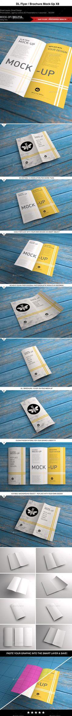 DL | Flyer | Brochure | Leaflet | Bi-Fold Mock-Up (Photoshop PSD, CS, 2480x1754, 8x5, 2 fold, 210mmx99mm, 4 pager, 4pp, beach chic, bi-fold, brand identity, brochure, dl, double-sided, eco stock, envelope, floating brochure, floating pages, flyer, folded, gatefold, id, interior, leaflet, marketing, mock-up, mockup, pamphlet, print, promotional, third A4, vintage surface, wooden background)