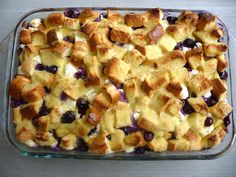 Overnight Blueberry FrenchToast... Made this for breakfast this morning... DE-licious and pretty simple!