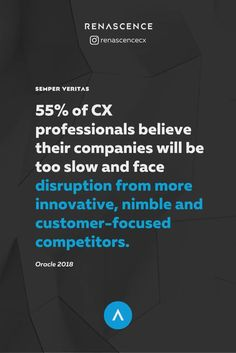 Despite overwhelming confidence in understanding what customers want, most CX professionals believe their companies won't be able to support the execution of experiences that keep up with their competitors' innovation and customer-focus. So even if internal teams create the ultimate CX strategy that blends art and science, it's not guaranteed it'll get into market–which should be a big corporate concern. - Customer experience data, cx insights  - #customerexperience #ux #renascencecx Value Proposition, Customer Experience, Research Paper, Marketing Materials, Insight, Confidence, Innovation, Infographic, Believe