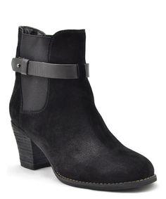 Look what I found on #zulily! Black Suede Secret Ankle Boot #zulilyfinds