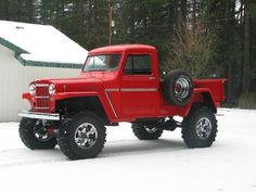 Willys Jeep Pickup Truck - 628 x 09 out of 12 Jeep Pickup Truck, Jeep 4x4, 4x4 Trucks, Custom Trucks, Cool Trucks, Cool Cars, Chevy Trucks, Pickup Camper, Jeep Willys