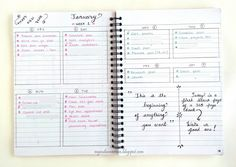 Till now I have tried six different weekly layouts in seven weeks of Bullet Journaling. See the my Weekly Spread Evolution in this two part series.