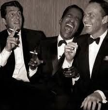 """This is the """"Rat Pack"""" my father raised me on. He would smoke his cigar on his terrasse in Greece, put Sinatra while drinking his Martini and I would be the happiest girl ever!"""