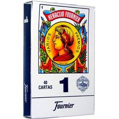 Fournier 1-40 Spanish Playing Cards (Blue) by Fournier. $7.95. Fournier, one of Spain's leading manufacturers of playing cards, produces this classic deck of Spanish playing cards. The boxed deck includes 40 cards with blue backs.  Unlike Anglo-French decks (e.g., poker or bridge decks), which have 52 cards and diamonds, clubs, hearts and spades for suits, this deck has ten numbered cards in suits called clubs, coins, cups and and swords.  Spanish playing cards ...