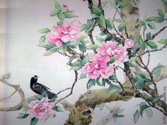 Картинки по запросу китайские цветы на шёлке