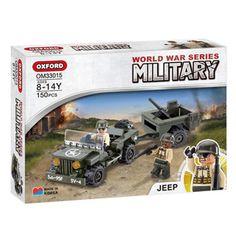 Oxford Military World War Series Jeep Car Brick Blocks Toy Kid OM33015 150PCS #Oxford