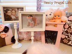Cute Frames with candlesticks and old picture frames by Fancy Frugal Life.