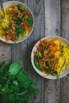 Lemongrass Mung Beans over Spaghetti Squash