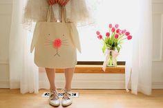 Wear The Canvas: DIY Bunny Tote Bag