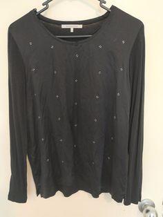 3a8e8fa1674e3 gerard darel black and crystal top t shirt size 2  fashion  clothing  shoes