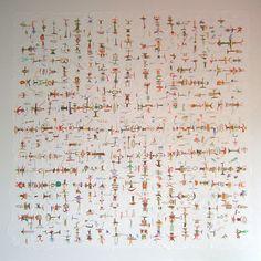 Título: Mi entorno Opus 45  Autor: Alvaro Galindo Vácha  Dimensiones: 170 x 170 cm  Técnica: Acrílico sobre tela  Año: 2004  Firmado: Frente y Revés