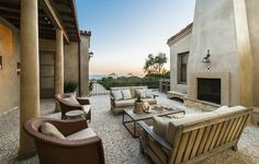 Courtyard with views!!! GORGEOUS!   via  http://hookedonhouses.net/2014/10/28/lady-gagas-oceanfront-home-designed-by-steve-giannetti/