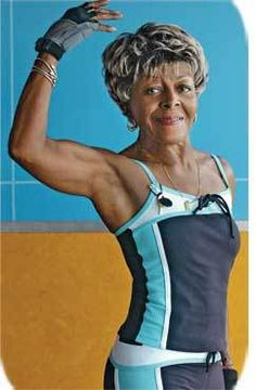 """At 86, great-grandmother Marjorie Newlin keeps pumping iron. Never a particularly athletic woman, but independent, she decided that she had to do something about her deteriorating physical capabilities.Though osteoporosis was also on her mind, the septuagenarian began lifting weights.""""I want to be as independent as I can be, for as long as I can,"""" says the great-grandmother and retired nurse who wil be 87 in August."""