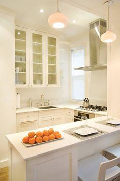 Маленькая кухня с барной стойкой: фото примеры дизайна интерьеров