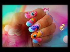 Cute My Little Pony nail art tutorial - YouTube