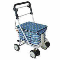 Andador con ruedas 4 ruedas / con asiento / con canastas