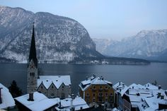 Hallstatt, Austria The lakeside town of Hallstatt is a UNESCO World Heritage Site and has even been dubbed the prettiest lakeside village in the world. 🎿