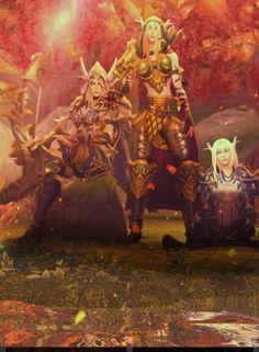 The Windrunner Sisters World Of Warcraft Game, Warcraft Art, High Fantasy, Fantasy Women, Final Fantasy, Fantasy Characters, Female Characters, Princess Mononoke Cosplay, Wow Elf