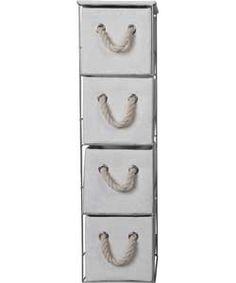 Pictures In Gallery Tall Drawer Storage Tower White But change ugly rope