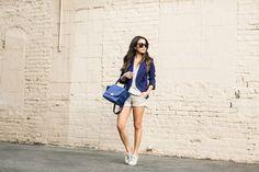 Casual Friday :: Sharp blazer & White sneakers