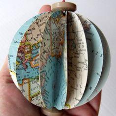 DIY Vintage Map Ornament Complete Kit