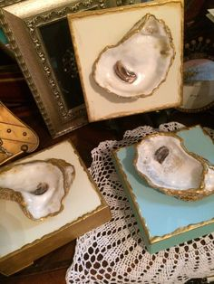 Oyster Art-3 dimensional  hand painted Oyster shells/crosses on deep edge canvas  by SouthernSweetCheeks2 on Etsy https://www.etsy.com/listing/234411515/oyster-art-3-dimensional-hand-painted