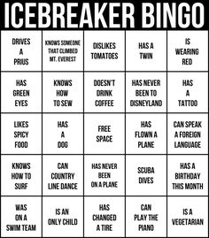 icebreakers the best way to get a party started