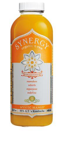 GT's Enlightened Synergy Mystic Mango Kombucha. Organic & Raw. #Kombucha