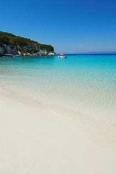 Unwind and restore on the stunningly beautiful beaches of Anti-Paxos Most Beautiful Beaches, Beautiful Places, Stunningly Beautiful, Paxos Greece, Places Around The World, Around The Worlds, Paxos Island, Places To Travel, Places To Visit