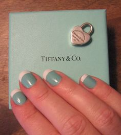 tiffany blue french manicure