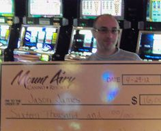 Winner's Circle - Mount Airy Casino Resort! Jason our $16,000 jackpot winner!!