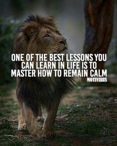 hayatta öğrenebileceğin en iyi derslerden biri nasıl sakin kalacağını öğrenmektir.