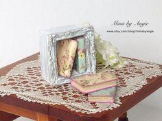 Dollhouse miniature desktop bookcase with four by MinisbyAngie, €19.60