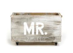 """Great Wedding gift idea for the Groom! Small Cart """"Mr."""""""