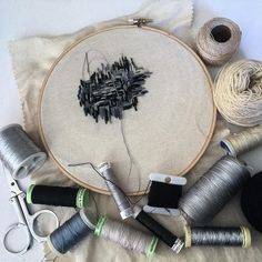 En proceso... bordado... gris..negro ..crema..metalizados @textilesxme
