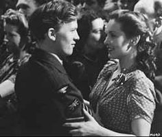 """Patricia Roc and (a very young) Gordon Jackson in """"Millions Like Us"""" (1943)"""