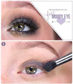 Transition from a light Summer-y eye to a moody Fall eye! Chunky knits and faux leather jackets demand something bolder, don't you think? Check out the rest of the steps + full face shot on thebeautydepartment.com!