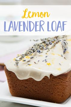 This Lemon Lavendar Loaf is the bread of your dreams. Gluten Free Desserts, Vegan Desserts, Just Desserts, Delicious Desserts, Baking Recipes, Cake Recipes, Dessert Recipes, Yummy Snacks, Yummy Food