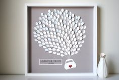 Wedding Guest Book Alternative- 3D Balloons car silhouette - LARGE - For up to 235 guests (includes frame, instruction card & pens) via Etsy