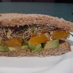 Avocado and Orange Sandwich Allrecipes.com he flavors come together ...
