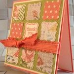 Calypso Coral Tea for Two Mini Card Stampin Up 1