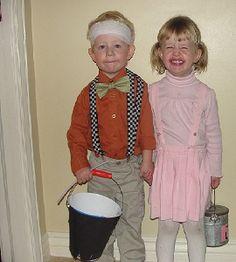 Homemade Jack and Jill Costume