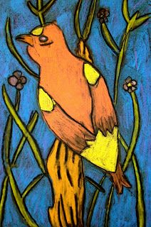 mrspicassos art room: Chalk Song Birds