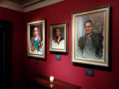 Part of the lovely display of the portraits at the Bloomsbury