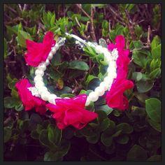 Organza ribbon flower bracelet