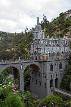 7 of the World's Most Unusual Churches - Condé Nast Traveler Las Lajas Sanctuary Places Around The World, Oh The Places You'll Go, Travel Around The World, Places To Travel, Places To Visit, Around The Worlds, Beautiful Buildings, Beautiful Places, Ecuador