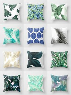 Society6 Leafy Throw Pillows - Society6 is home to hundreds of thousands of artists from around the globe, uploading and selling their original works as 30+ premium consumer goods from Art Prints to Throw Blankets. They create, we produce and fulfill, and every purchase pays an artist.