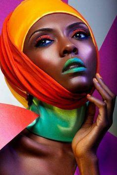 15 lustige und modische Halloween-Make-up-Ideen Halloween Makeup halloween makeup for dark skin Fashion Editorial Makeup, High Fashion Makeup, Fashion Beauty, Make Up Looks, Black Women Art, Beautiful Black Women, Make Up Art, How To Make, Halloween Fashion